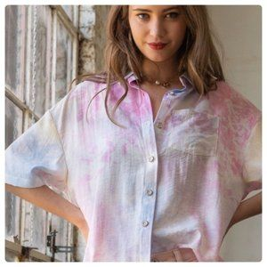 Stunning cotton candy blouse